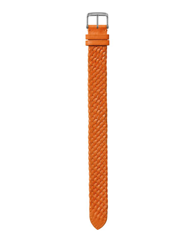 Men's 21mm Large Hand-Braided Leather Watch Strap