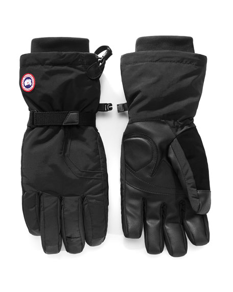 Men'S Down-Filled Gloves, Black