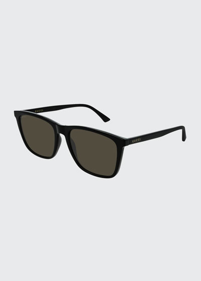 Men's GG0404S007M Injection Sunglasses - Polarized