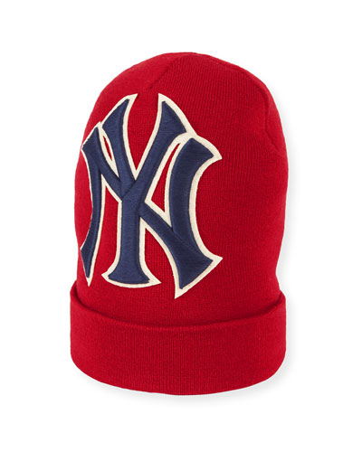 Men's New York Yankees MLB Patch Beanie Hat