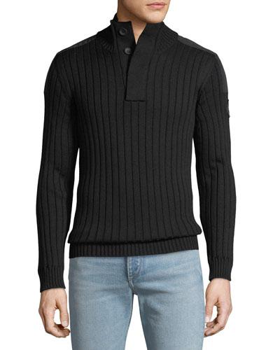 Men's 3/4-Button Turtleneck Sweater