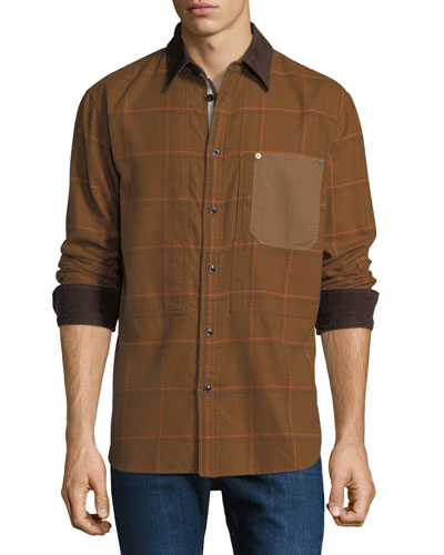 Men's Plaid Chore Work Wear Shirt