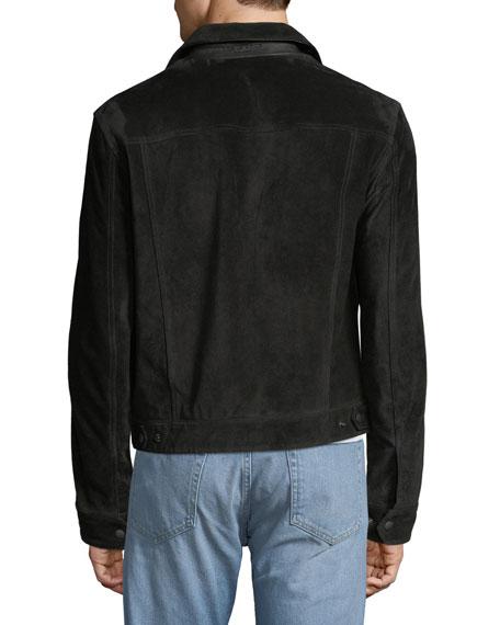 Men's Suede Trucker Jacket