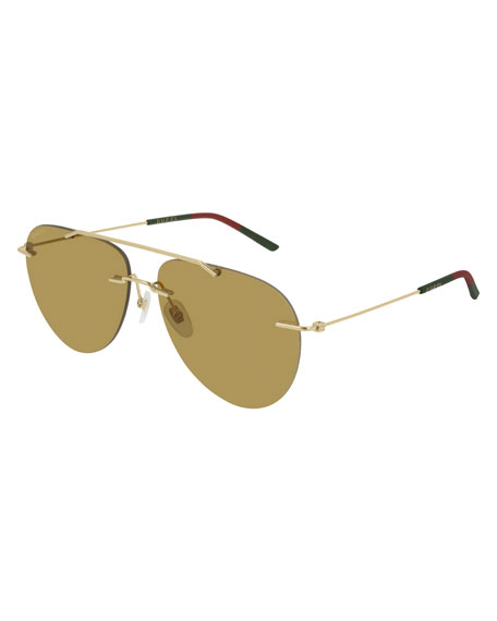 Gucci Men's GG0397S005M Mirrored Sunglasses