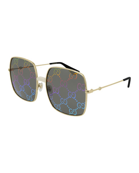 e049f17fa73 Gucci Men s GG Hologram Square Sunglasses