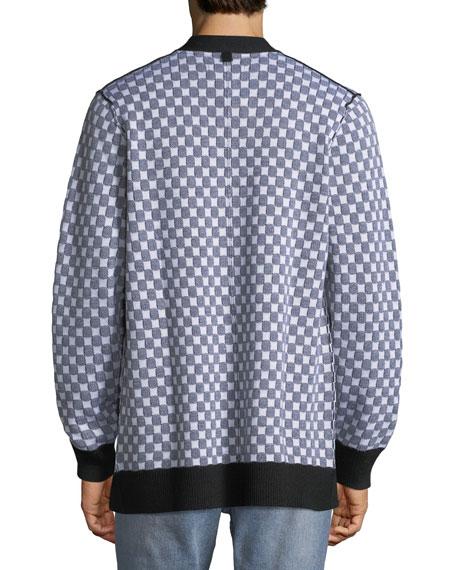 Men's Checkerboard Pocket Cardigan
