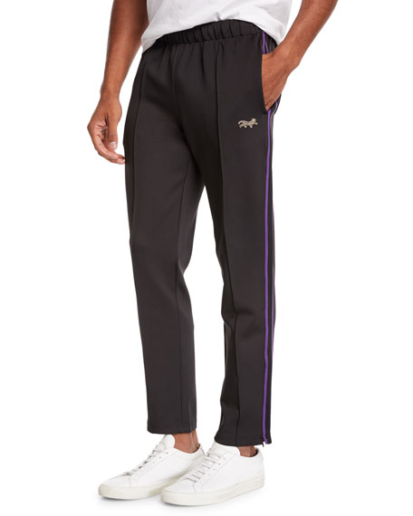 Ovadia & Sons Men's Side-Stripe Ball Track Pants