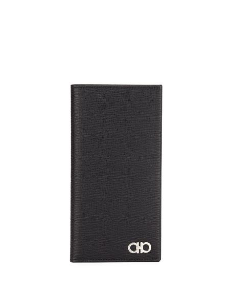 Salvatore Ferragamo Men's Revival Gancio Leather Long Wallet