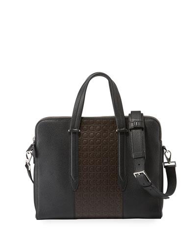 Men's Firenze Gamma Textured Briefcase