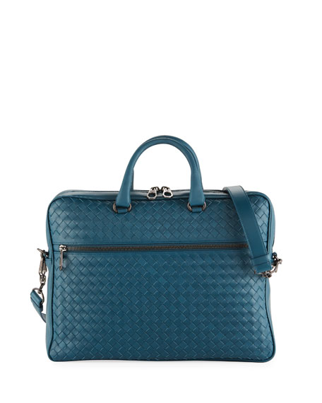 77c11ec319b7 Bottega Veneta Men s Slim Woven Leather Briefcase