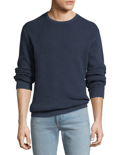 Men's Camden Sand-Washed Cotton Crewneck Sweater