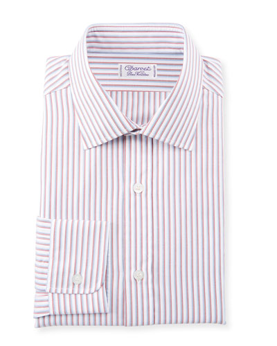 Men's Slim Multi-Stripe Dress Shirt