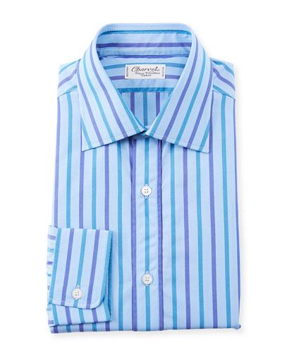Men's Large Stripes Dress Shirt