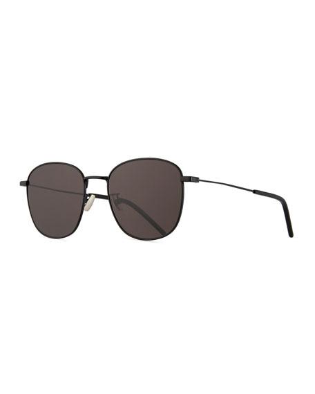 Saint Laurent Men's Square Metal Aviator Sunglasses