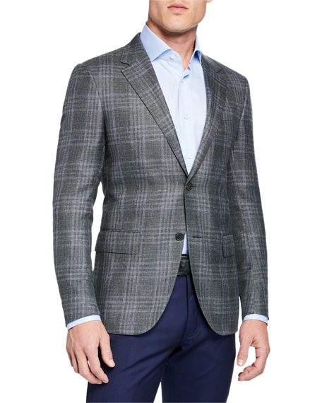 Men's Cashmere/Silk Plaid Sport Coat