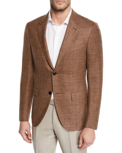 Men's Camel Check Sport Coat