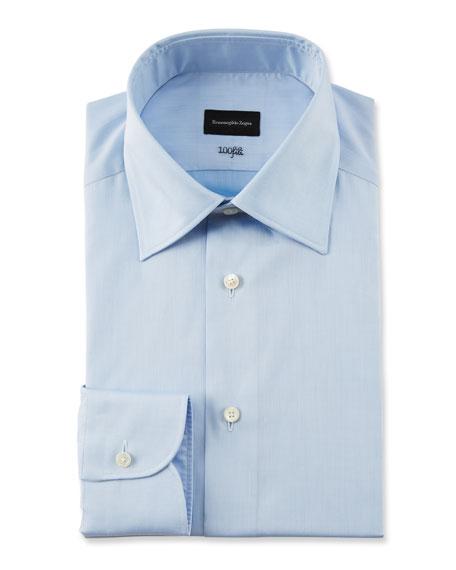 Ermenegildo Zegna Cottons MEN'S 100FILI SOLID DRESS SHIRT