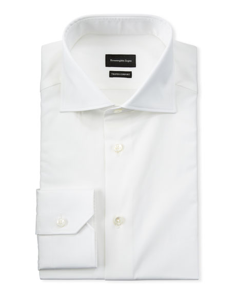 Ermenegildo Zegna Men's Long-Sleeve Solid Dress Shirt