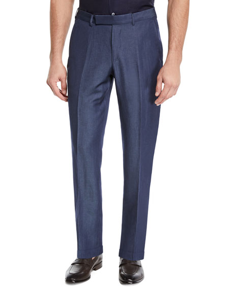 Ermenegildo Zegna Men's Wool/Linen Dress Trousers