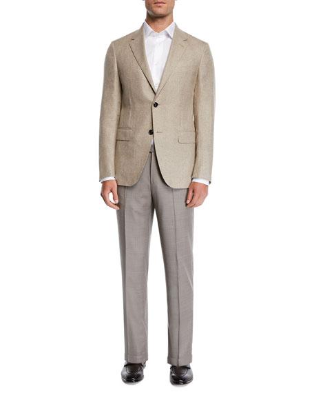 Men's Achill Wool/Silk Dress Trousers