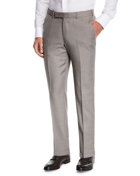 Ermenegildo Zegna Men's Achill Wool/Silk Dress Trousers