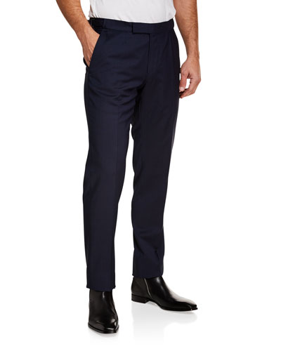 3d660ef701fd Men s Tic Stretch-Wool Flat-Front Trousers