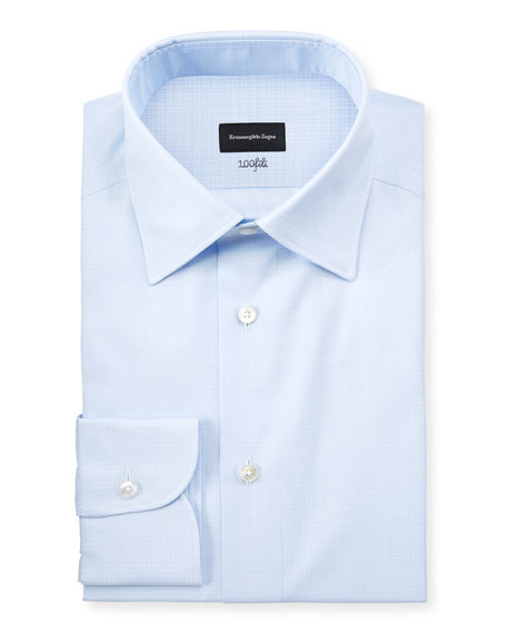 Ermenegildo Zegna Men's Cotton Tonal Check Cento Dress