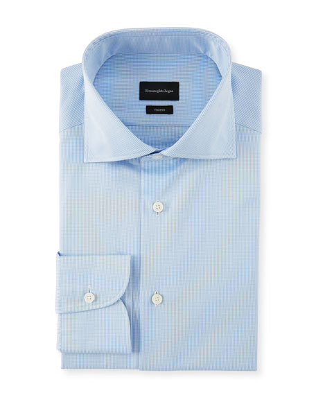 Ermenegildo Zegna Men's Cotton Check Dress Shirt