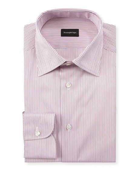 Ermenegildo Zegna Men's Narrow Stripe Dress Shirt