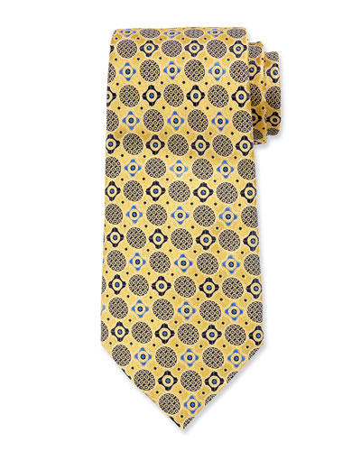 Men's Silk Woven Medallion Tie