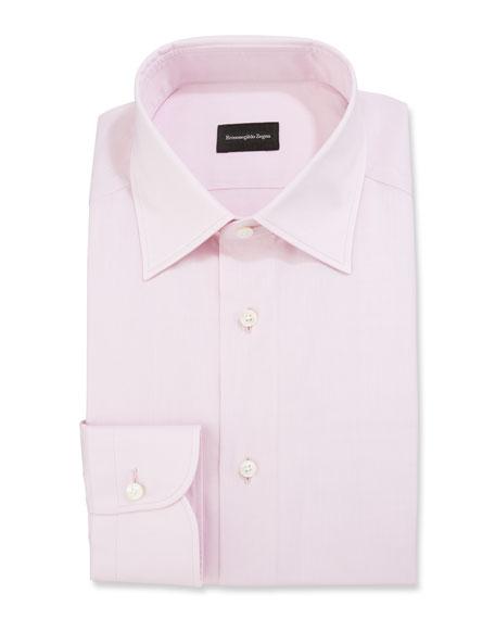 Ermenegildo Zegna Men's Solid Poplin Dress Shirt