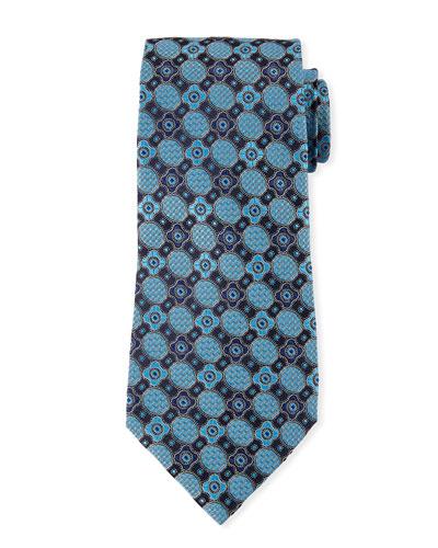 Men's Silk Circles Medallions Tie
