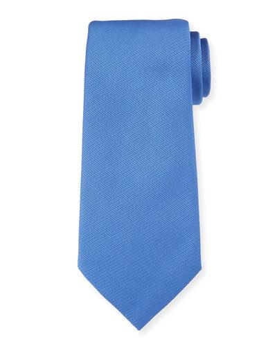 Solid Silk Twill Tie, Blue