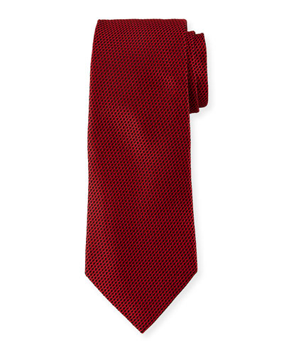 Men's Chain-Link Silk Tie  Red