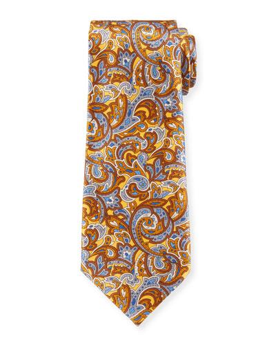 Men's Medium-Scale Paisley Tie  Yellow