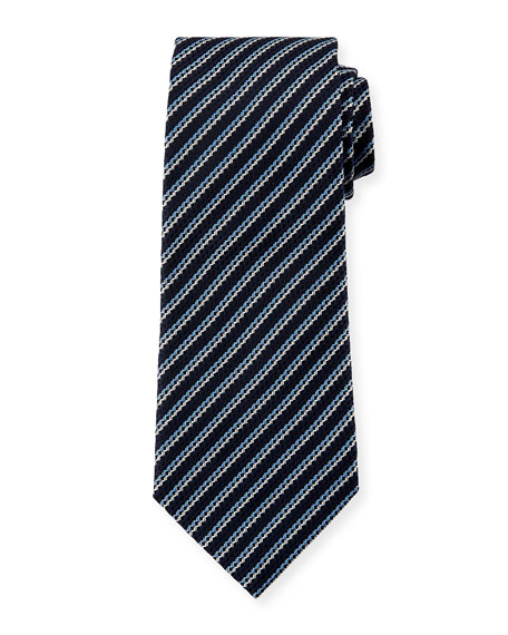 Ermenegildo Zegna Men's Silk Narrow-Stripe Tie