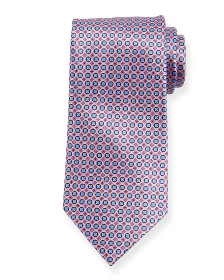605a2c54 Boxes and Circles Silk Tie Pink