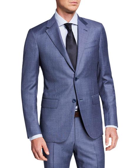 Ermenegildo Zegna Men's Sharkskin Two-Piece Suit