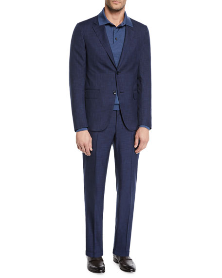561aeca297aea Ermenegildo Zegna Men's Two-Piece Striated Tic Suit
