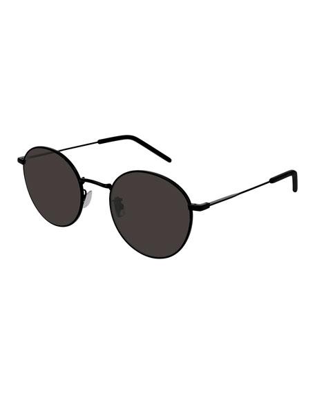 Saint Laurent Sunglasses MEN'S SLIM METAL RECTANGLE SUNGLASSES