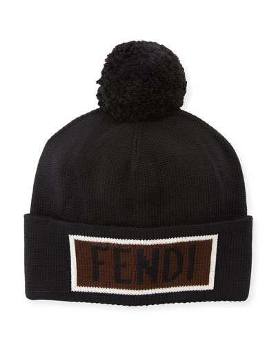 Men's Vocabulary Pompom Beanie Hat