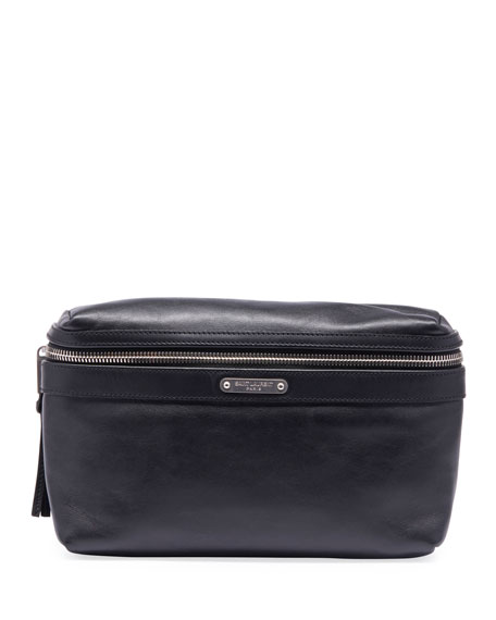 Saint Laurent Men's YSL Marsupio Leather Belt Bag