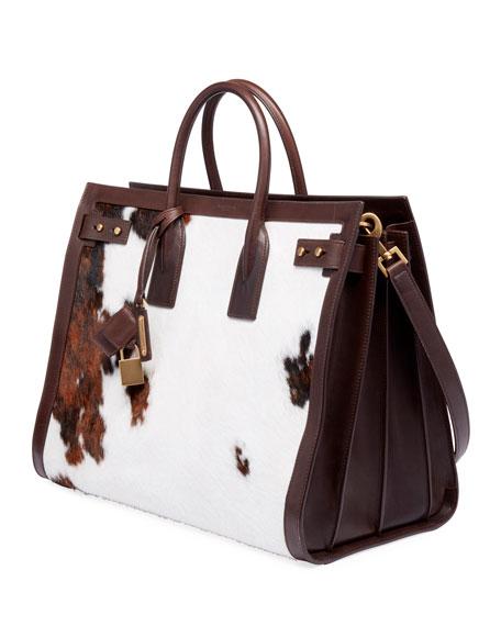 ea5490404e Men's YSL Tote Bag in Cow Print