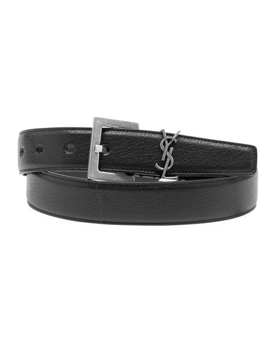 Men's YSL Lamb Leather Belt