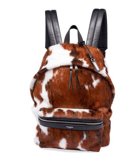 Saint Laurent Men's City Calf Hair Backpack