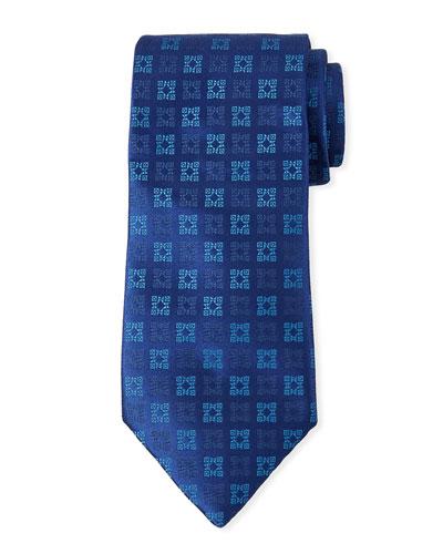 Men's Multi-Squares Silk Tie