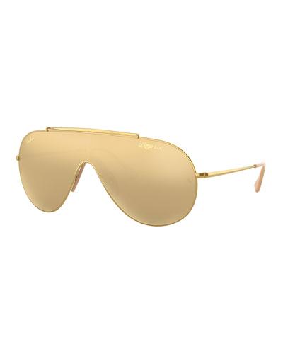 Men's Golden Wings Shield Sunglasses