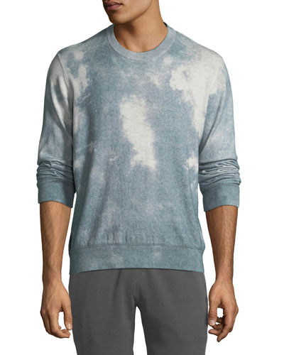 Men's Wash-Dyed Crewneck Sweater