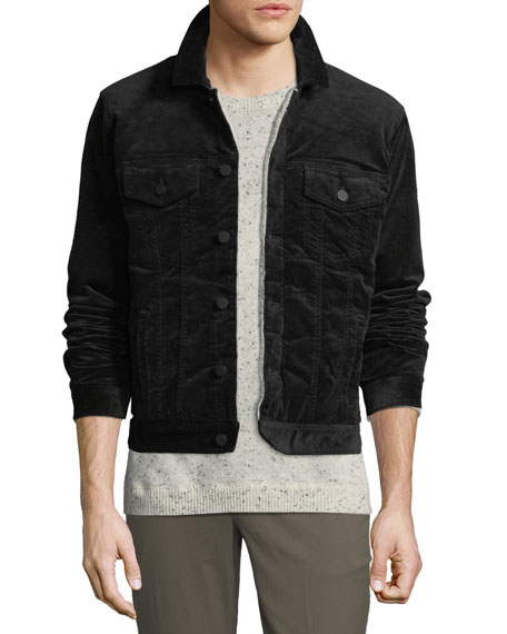 ATM Anthony Thomas Melillo Men's Sherpa-Lined Corduroy Jacket