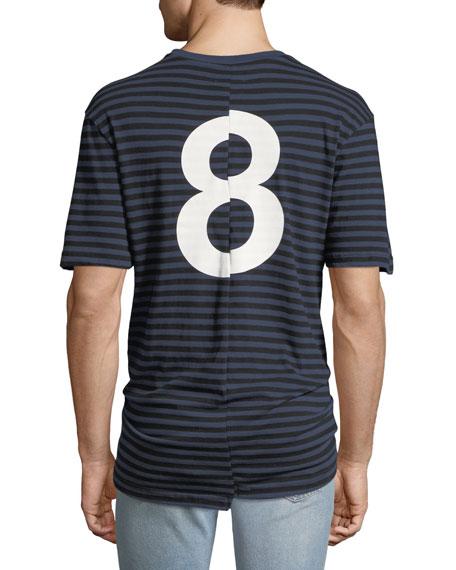 """Men's """"8"""" Oversized Striped T-Shirt"""